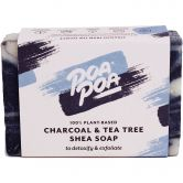 Poapoa Charcoal & Tea Tree Shea Seife, 100 g