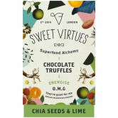 Sweet Virtues Schokoladentrüffel Chia & Limette, 115 g