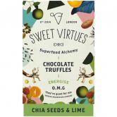Sweet Virtues Schokoladentrüffel Chia & Limette, 115 g