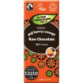 The Raw Chocolate Co. Rohkost-Schokolade Goji & Orange, 44 g
