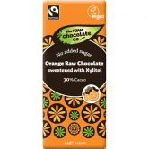The Raw Chocolate Co. Rohkost-Schokolade Orange Xylitol, 44 g