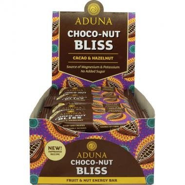 Aduna Choco-Nut Bliss Energy Rohkost-Riegel, 40 g, 16er Box