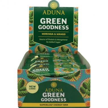 Aduna Green Goodness Energy Rohkost-Riegel, 40 g, 16er Box