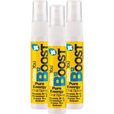 BetterYou Boost Vitamin B12 Spray (300 mcg, 25 ml), 3er Pack