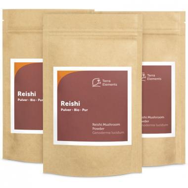 Bio Reishi Pulver, 100 g, 3er Pack
