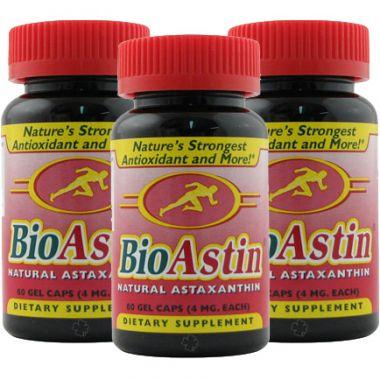Nutrex Hawaii BioAstin® Astaxanthin (4 mg, 60 Gelcaps), 3er Pack