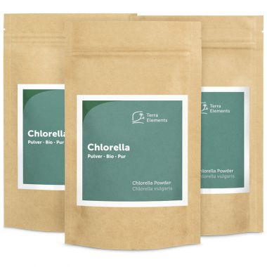 Bio Chlorella Pulver, 100 g, 3er Pack