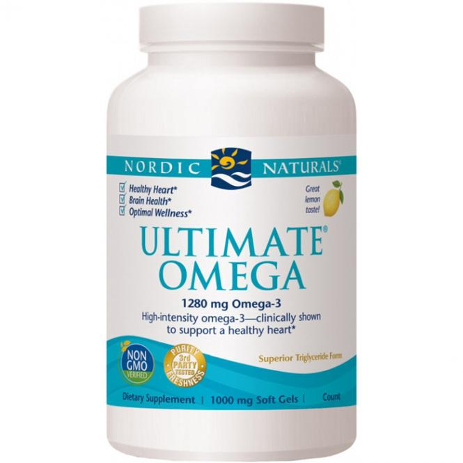 Nordic Naturals Ultimate Omega-3 (1000 mg, 60 Softgels)