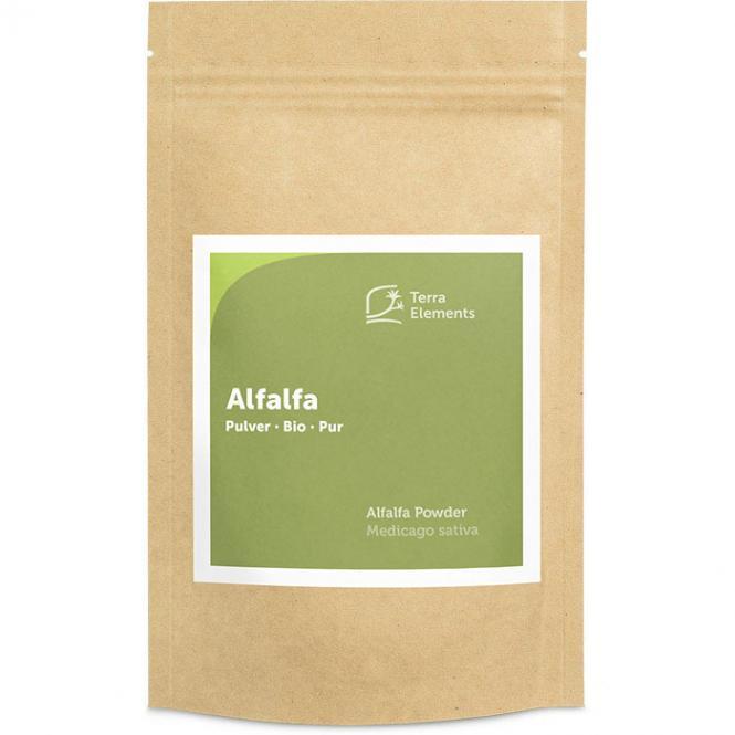 Bio Alfalfa Pulver, 125 g