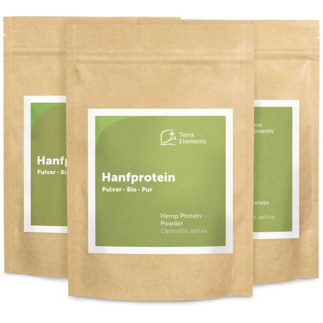 Bio Hanfprotein Pulver, 250 g, 3er Pack