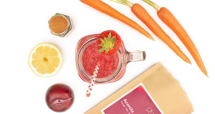 Vitamine und Acerola Pulver