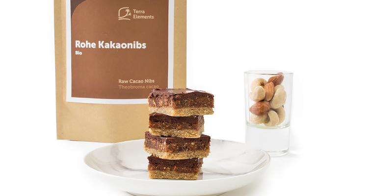 Rohkostplätzchen mit Kakaonibs