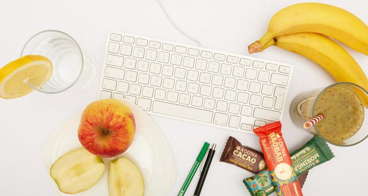 Gesunde Snacks am Schreibtisch