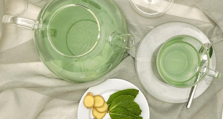 Grüner Tee mit Grüner Kaffee Pulver