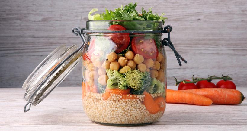 Meal Prep: Salat im Glas