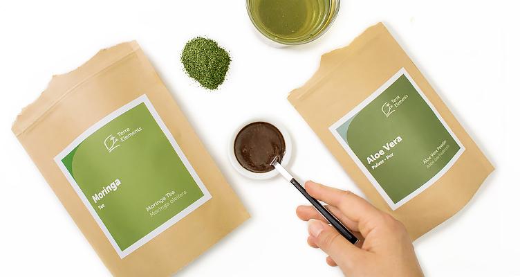 Natürliches Shampoo DIY mit Moringa Tee und Aloe Vera Pulver