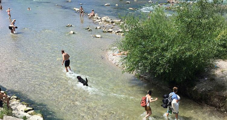 Sommertag an der Isar