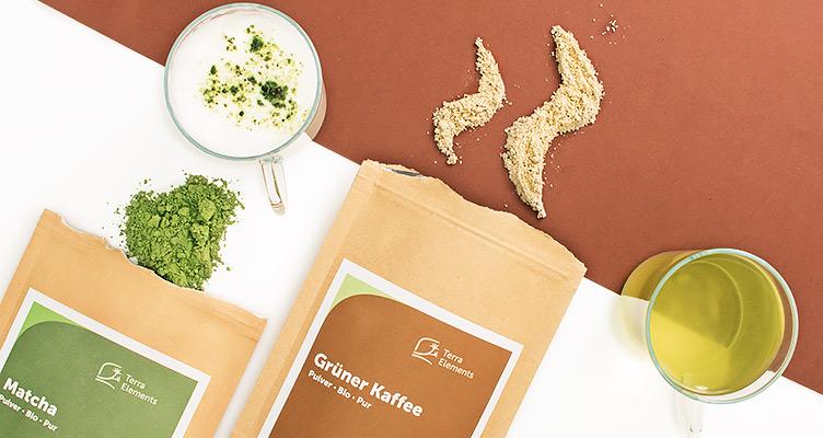 Matcha und Grüner Kaffee zum natürlichen Wachwerden
