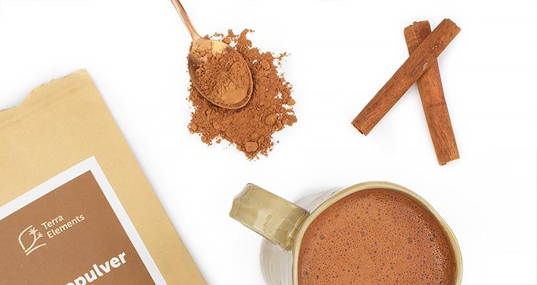 Warme Schokolade mit rohem Criollo Kakao