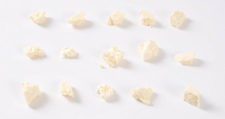 Veganer Käse in Stückchen